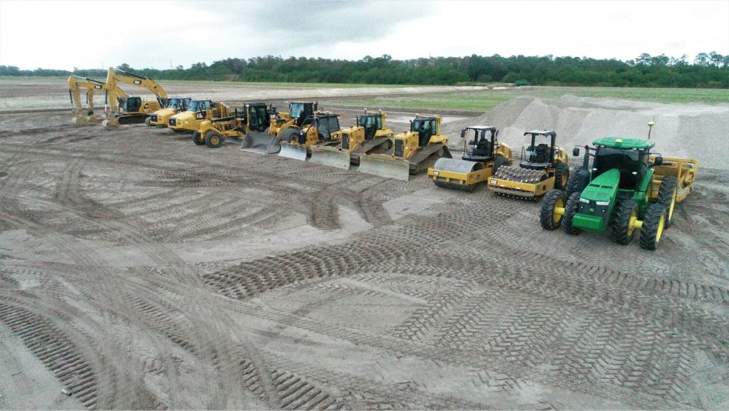 land clearing, sustainable agriculture, steelwrist, excavation, sod installation | Grovin Farms, Florida.