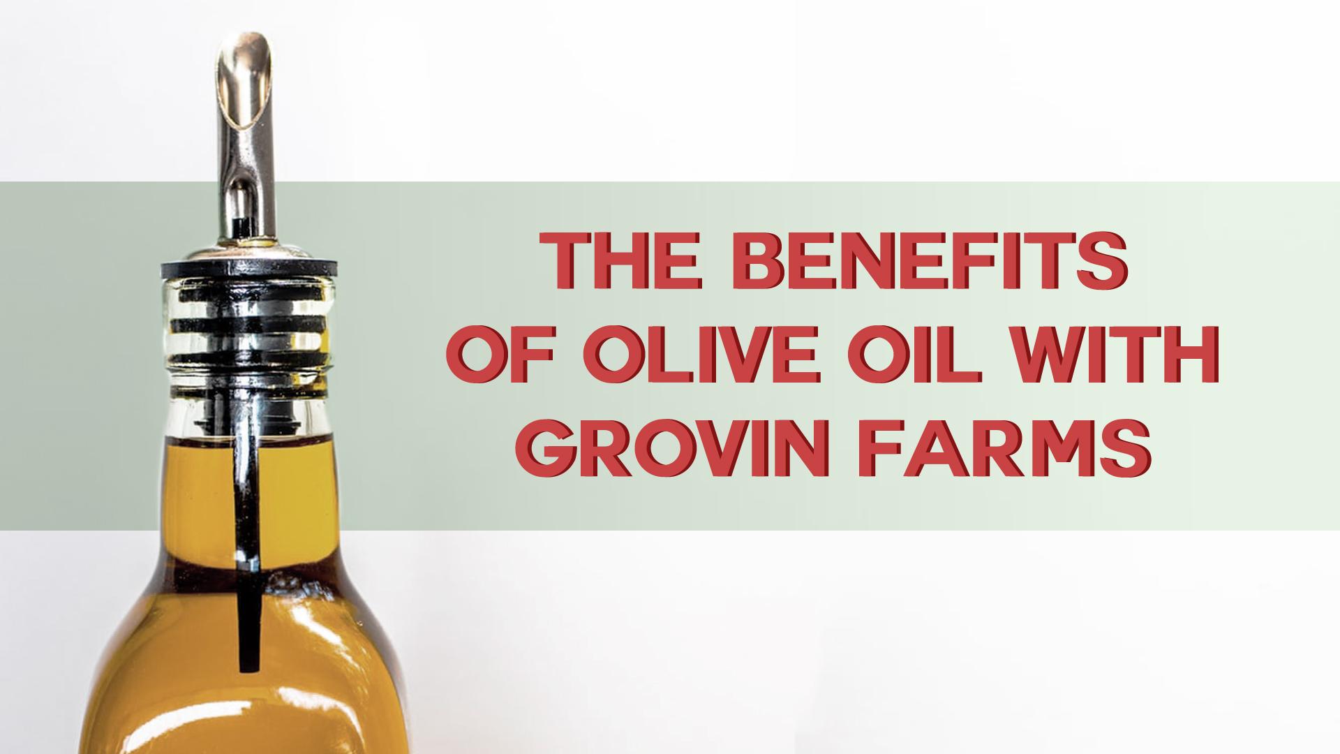 benefits of olive oil | Grovin Farms | Melrose, FL