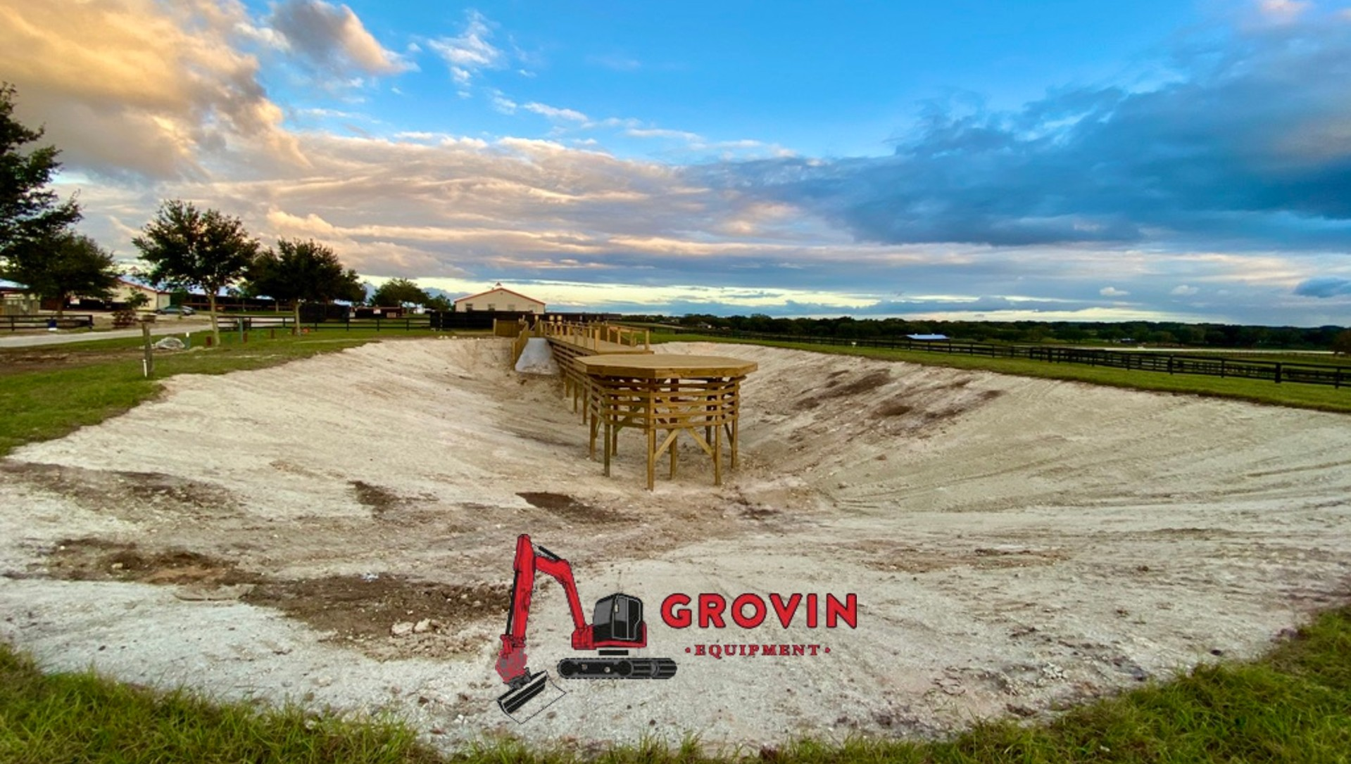 Grovin Builds The Perfect Eurociser Equestrian Pond